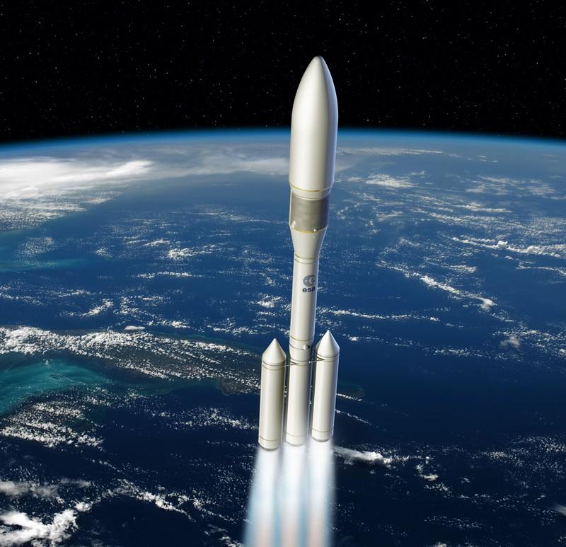 Vue d'artiste de la future fusée Ariane 6