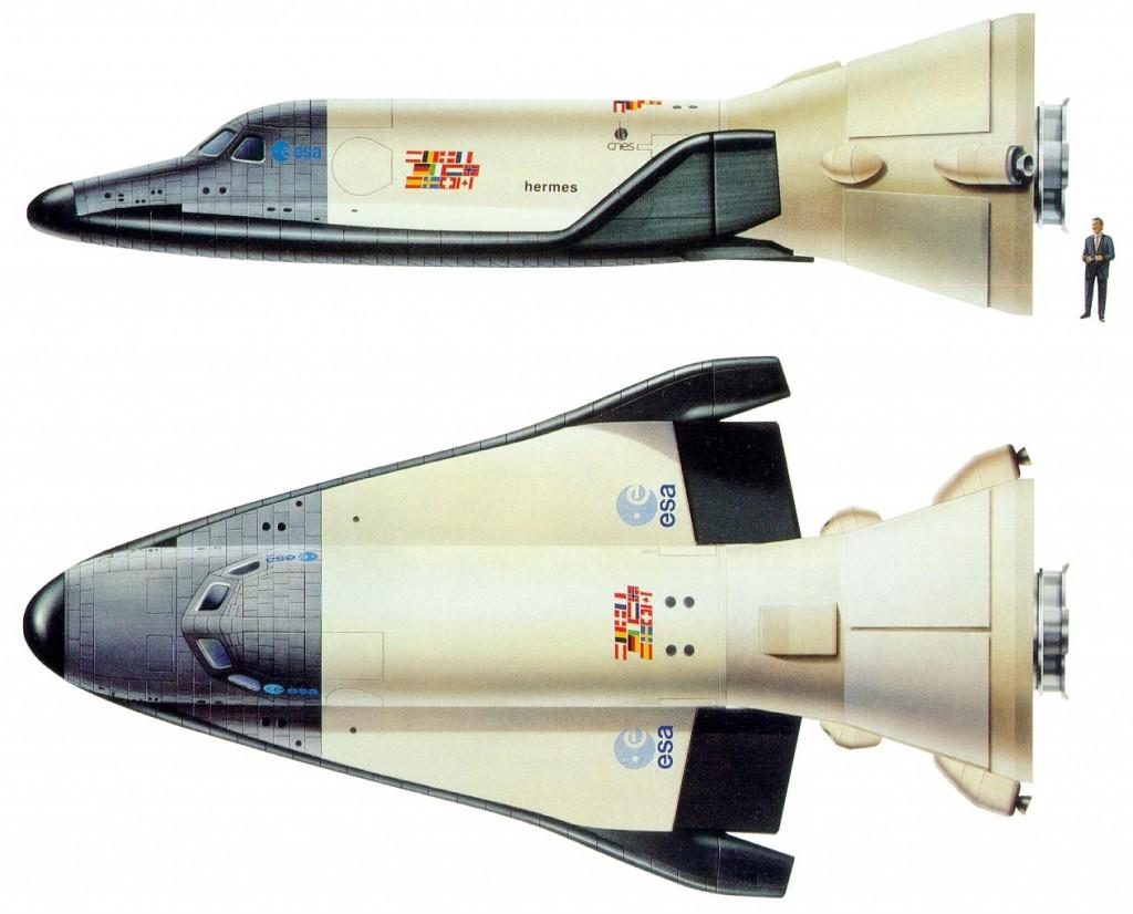 Différentes vues de l'avion spatial Hermès